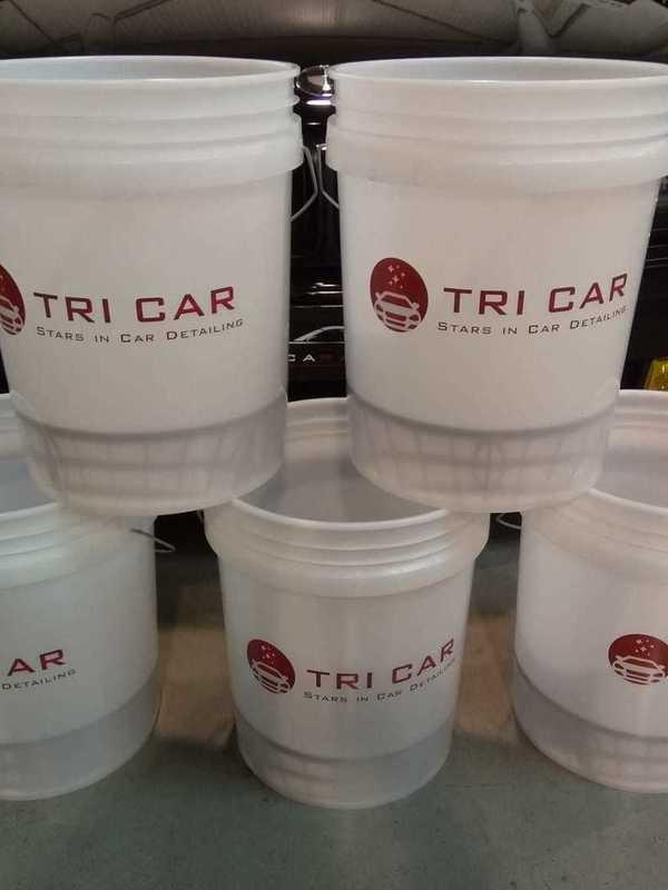 Bucket TriCar met grid guard insert